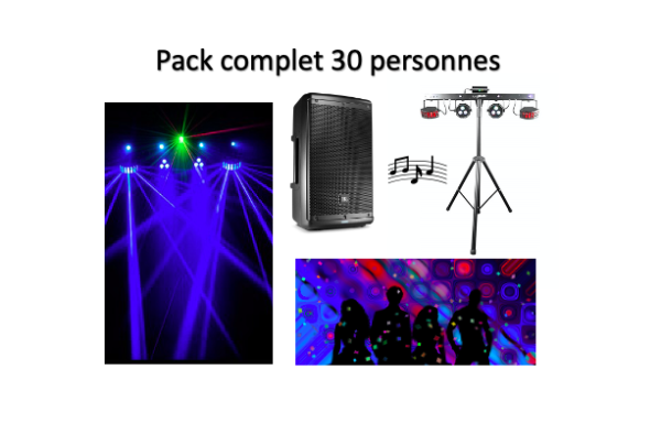 Pack complet 30 personnes