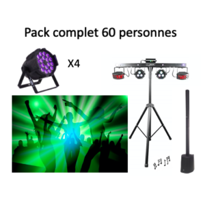 Pack complet 60 personnes