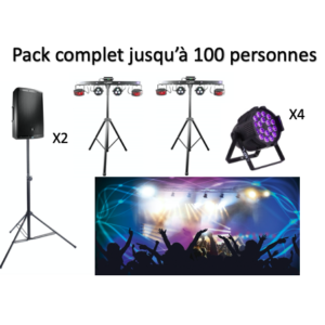 Pack complet jusqu'à 100 personnes