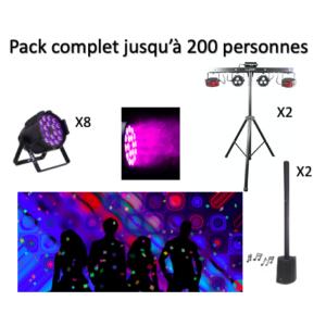 Pack complet jusqu'à 200 personnes