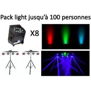 Pack light jusqu'à 100 personnes