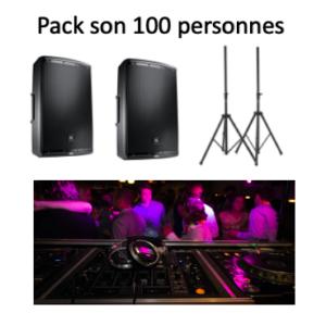 Pack son 100 personnes