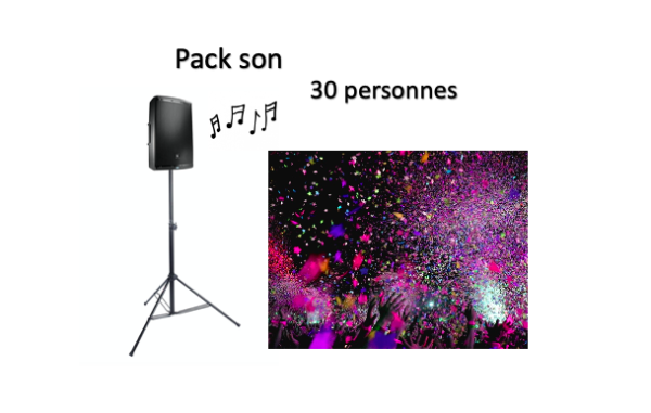 Pack son 30 personnes